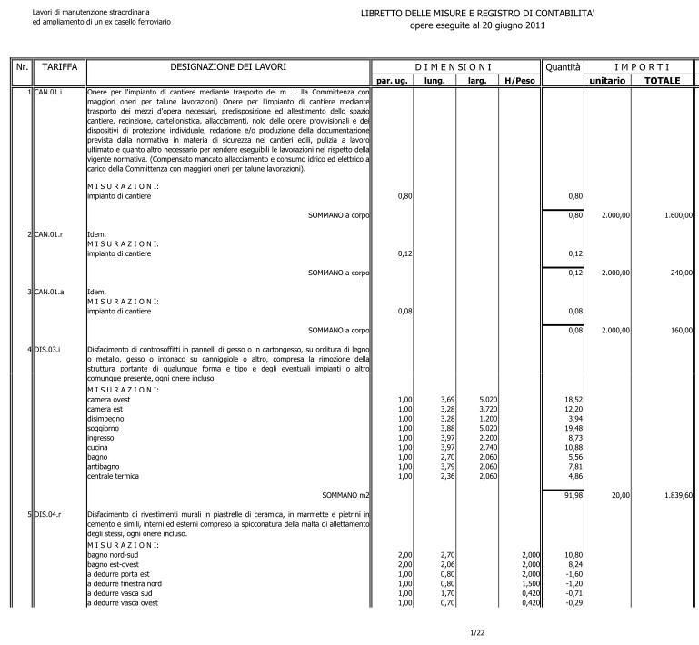 Computo metrico archivi massimo meneghin architetto - Esempio preventivo ristrutturazione casa ...