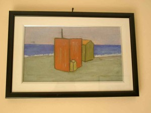 Massimo Meneghin dipinto a olio fronte