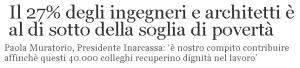 Massimo Meneghin ingegneri architetti e soglie di povertà