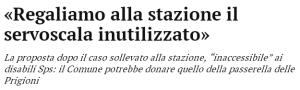 Massimo Meneghin fingere di eliminare le barriere architettoniche