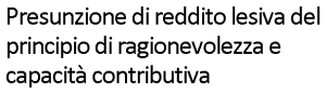 Massimo Meneghin presunzione del reddito